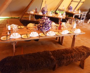 GREAT place setting in tent
